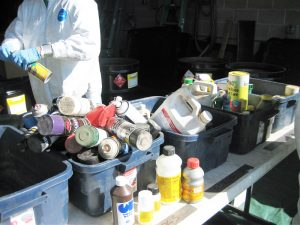 sorting chemicals for disposal