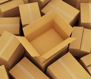 Cardboard boxes background.
