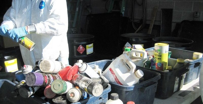 Sorting chemicals for disposal at SCISWA