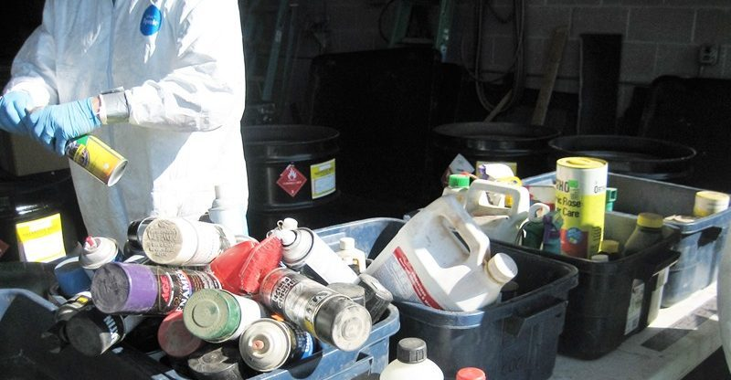 Sorting chemicals for disposal at SCISWA