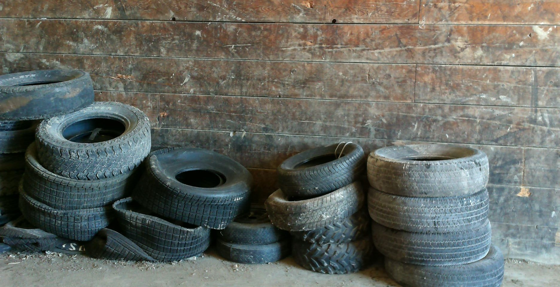 Waste tires at SCISWA