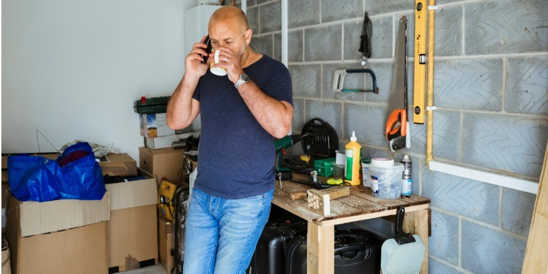 Man calling for appt from garage